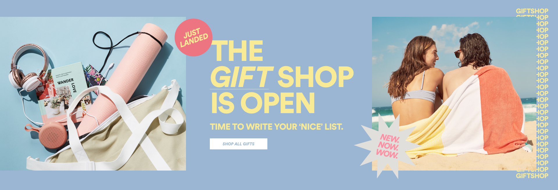 The gift shop is open. Click to Shop.