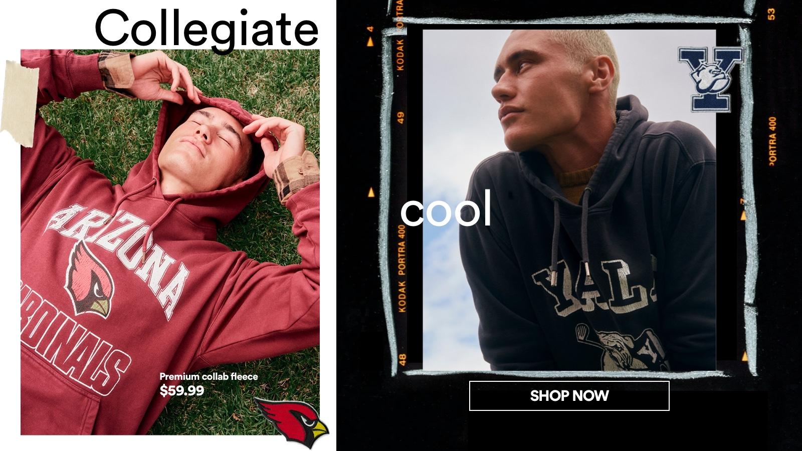 Collegiate Cool. Click to Shop.