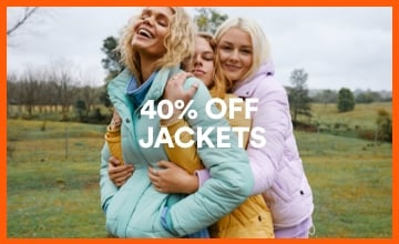 40% off Jackets. Click to Shop.