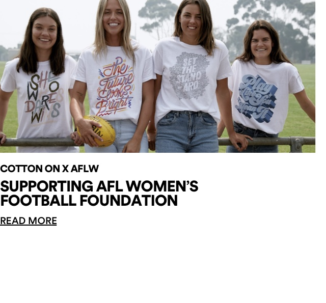 The Good and AFLW. Supporting AFL Women's Football Foundation. Click for more information.