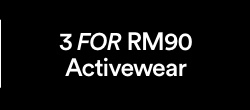 Activewear 3 FOR RM90.