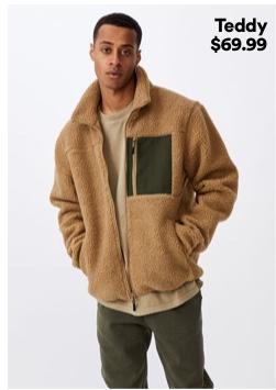 Men's Teddy Jacket. Click To Shop