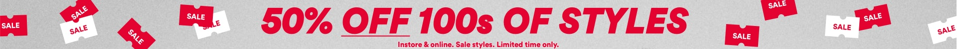 Cotton On Sale. Fifty percent off 100s of styles. Click to shop.