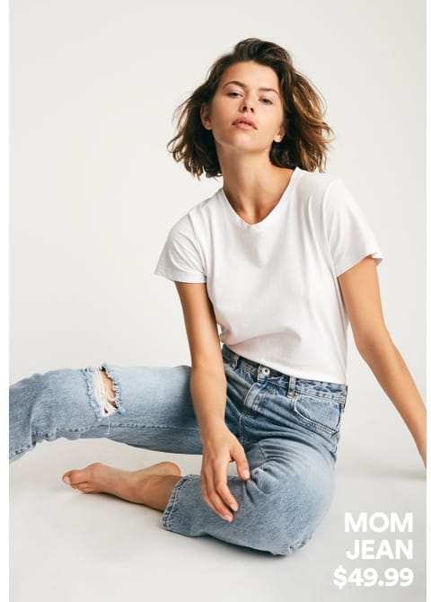 Women's Mom Jean. Click To Shop