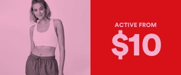 Activewear From $10. Click to Shop.