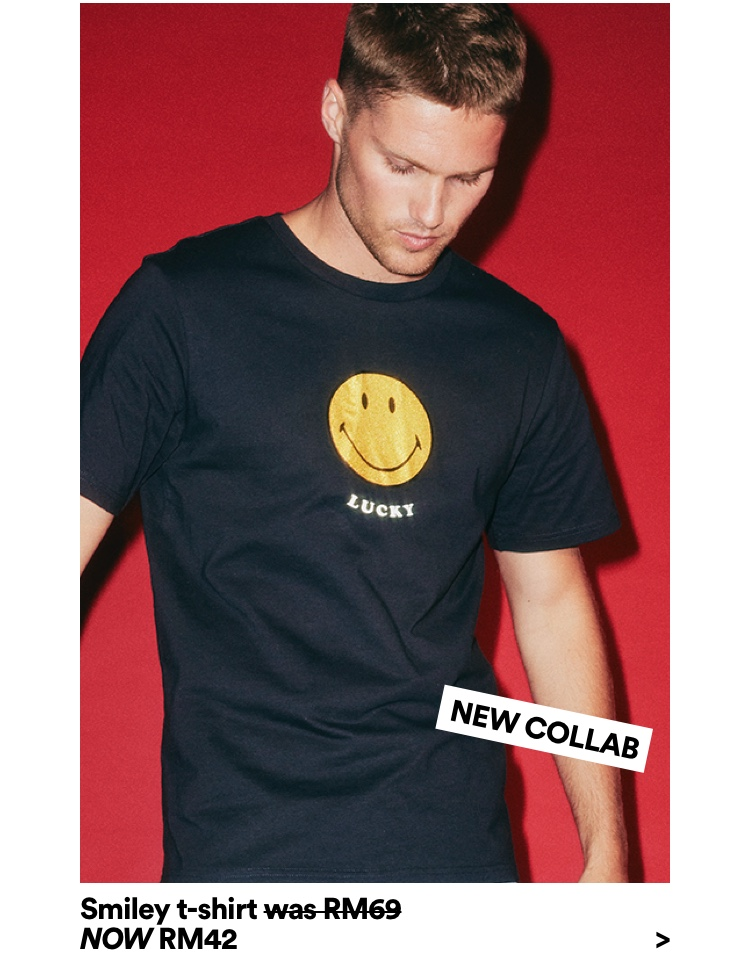 Smiley T-Shirt Now RM42