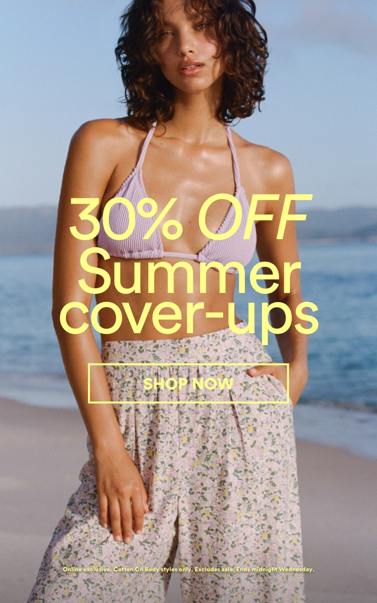 30% Off Summer Cover-Ups. Shop Now.