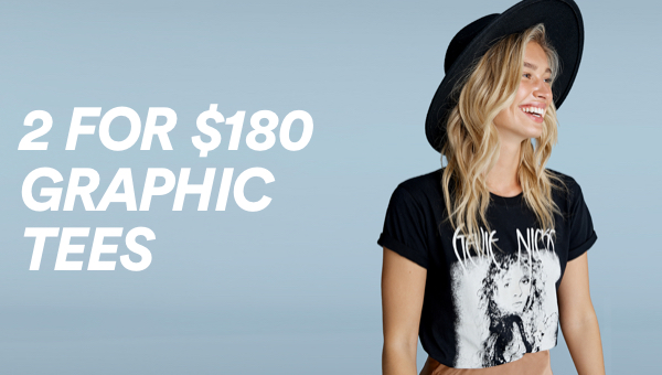 Cotton On 2 for $180 Graphic Tees. Click To Shop