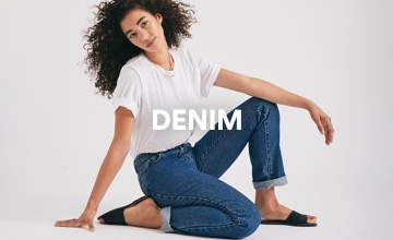 Women's Denim. Click to shop.