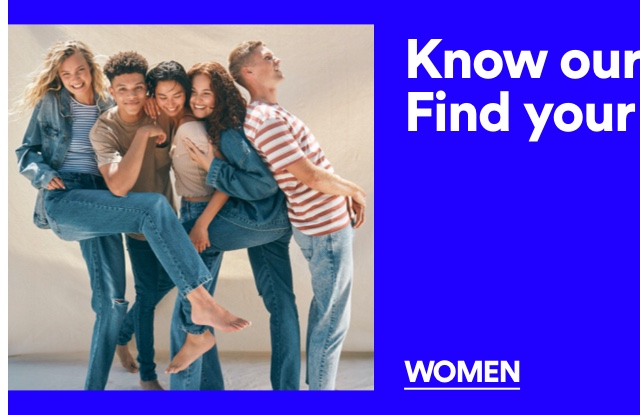 Find your fit. Women's Denim Fit Guide.