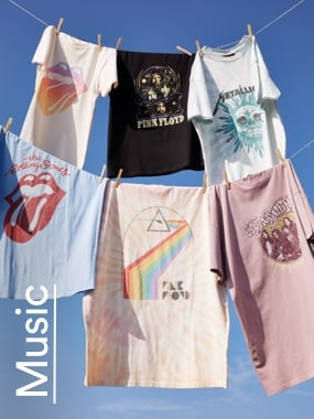 Band Tees Click to shop.