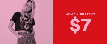 Women's Graphic Tees From $7. Click to Shop.