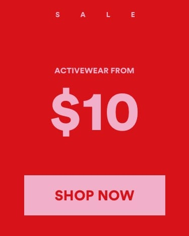 50 percent Sale Cotton On. Click to shop Activewear.