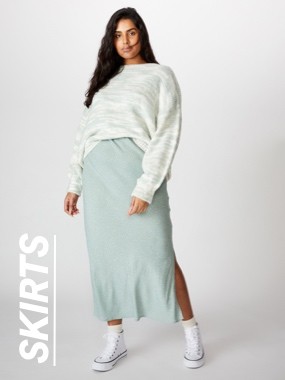 Plus Size Skirts. Click to shop.