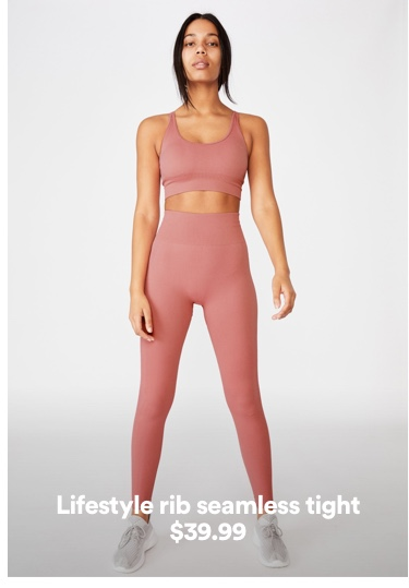 Women's Rib Seamless Tight. Click to shop.