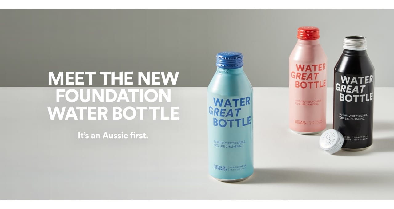 Meet the new Cotton On Foundation water bottle.