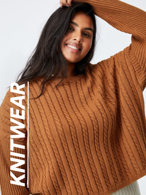 Curve Knitwear. Click to shop.