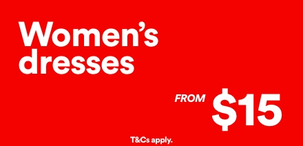 Women's Dresses from $15. Click to Shop