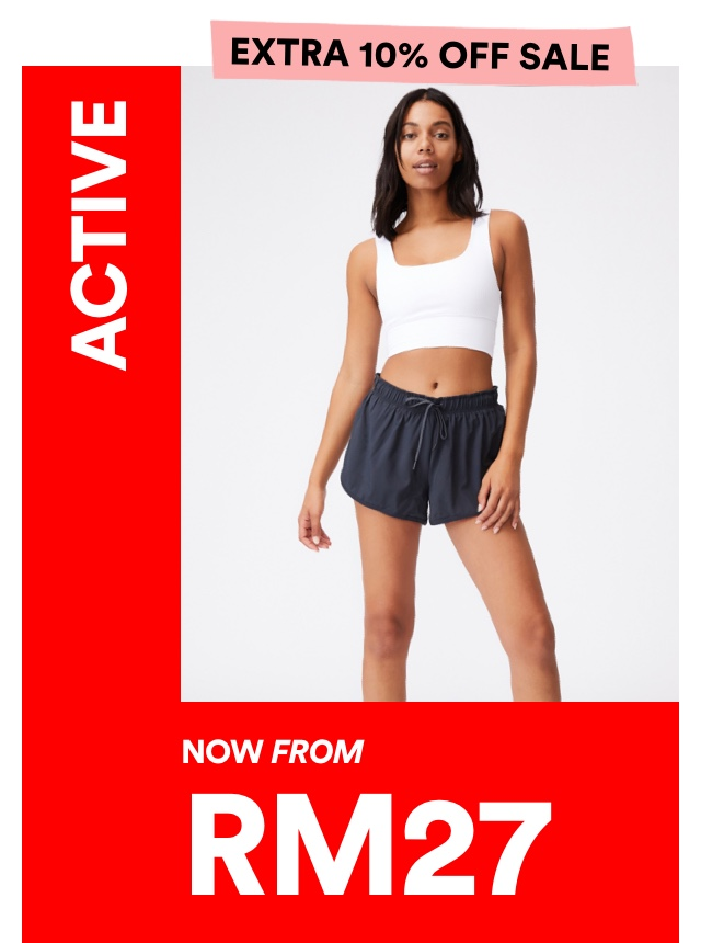 Activewear now from RM127. Click to Shop.