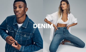 Denim. Click to Shop.