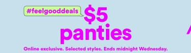 $5 Panties. Click to Shop.