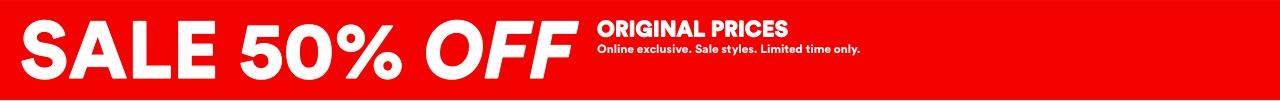 Sale 50% Off Original Prices