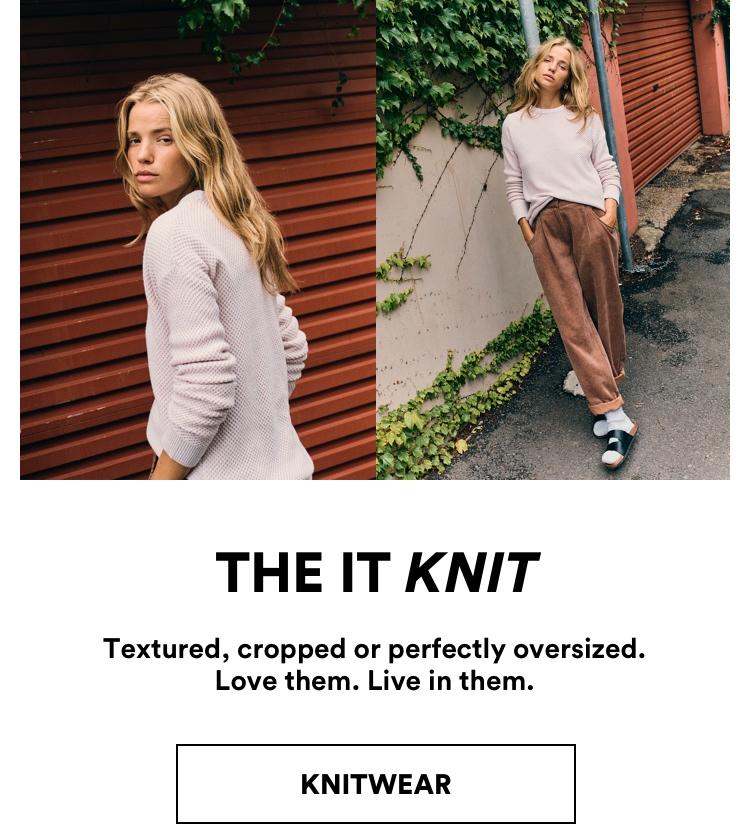 The It Knits. Shop Knitwear.