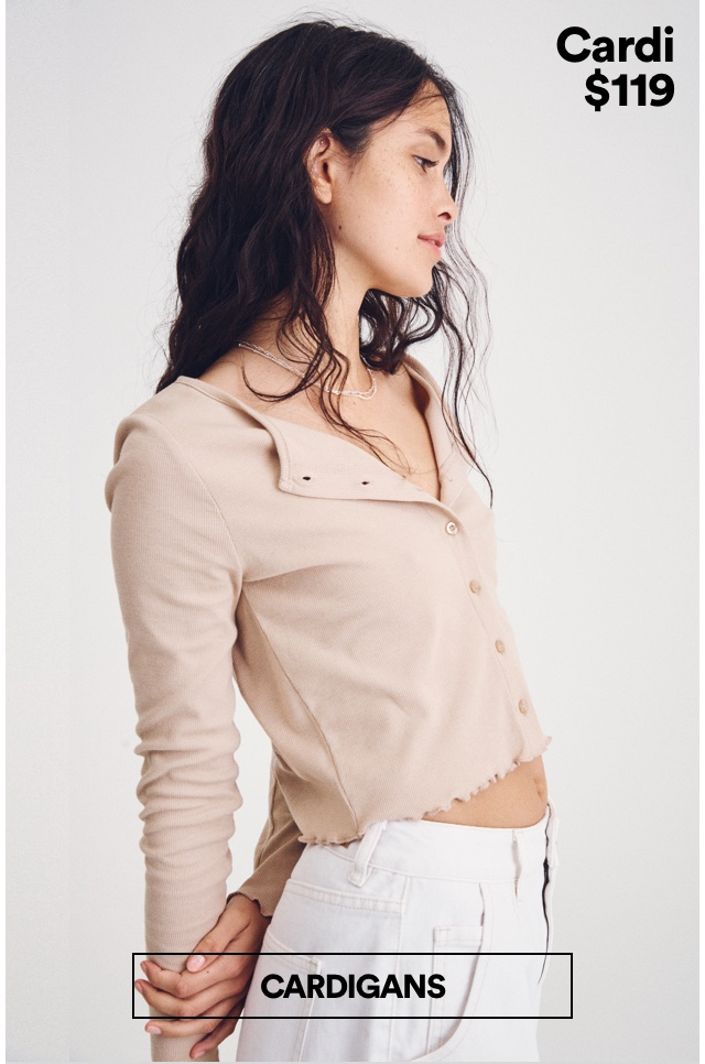 Cardigans. Click to Shop.