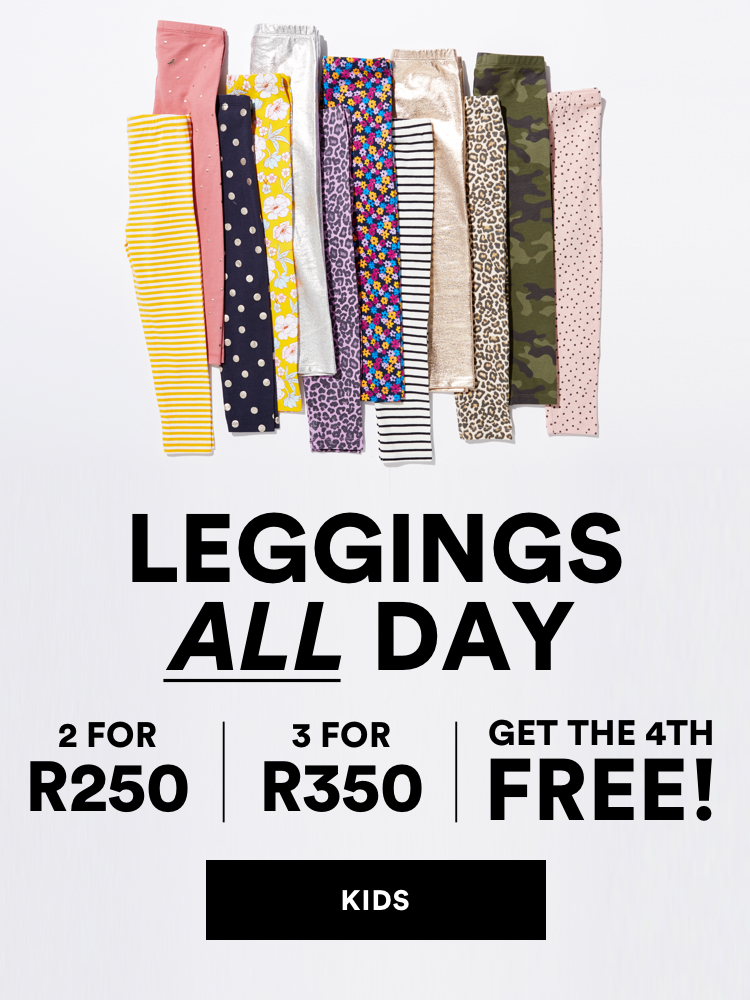 Leggings All Day. 2 for R250, 3 for R350, 4th Pair Free.