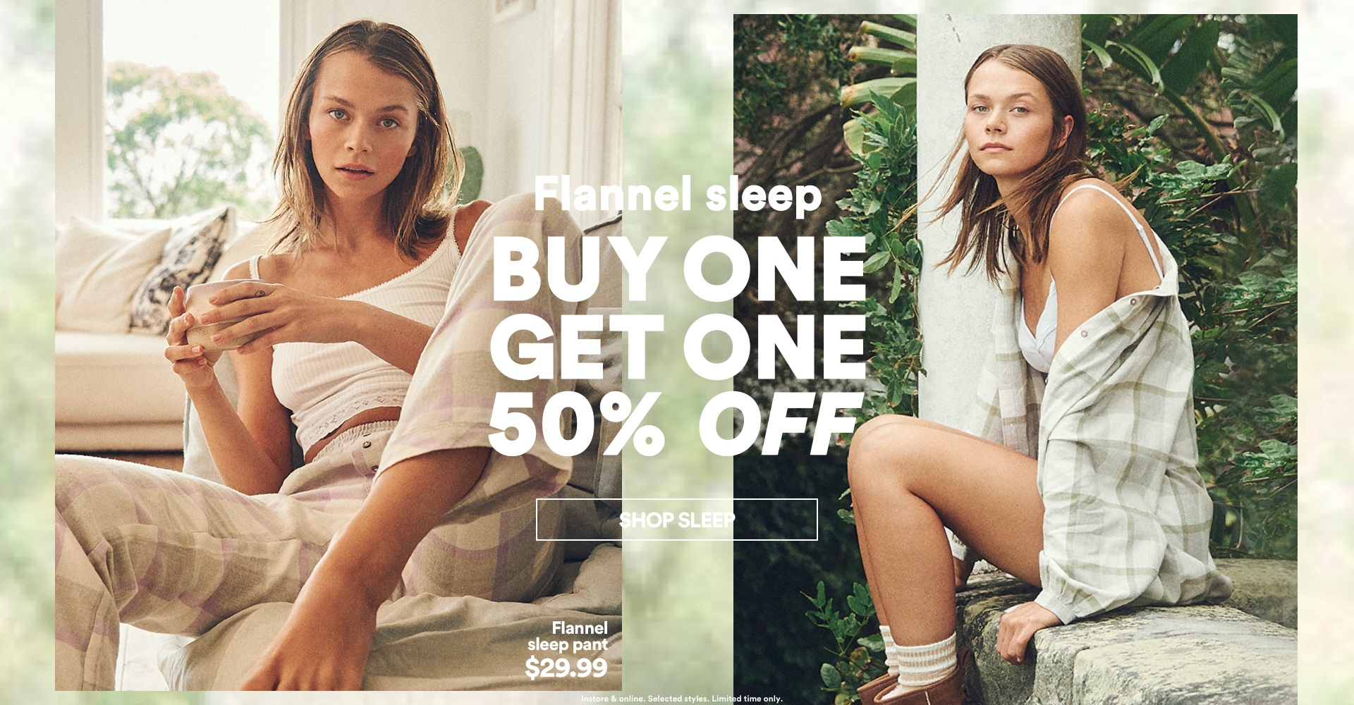 Flannel Sleep: Buy one, get one 50% off. Shop Now.