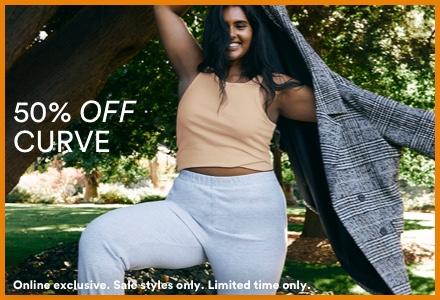 50% Off Curve. Click to Shop.