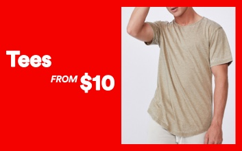 Tees now $10. Click to shop.