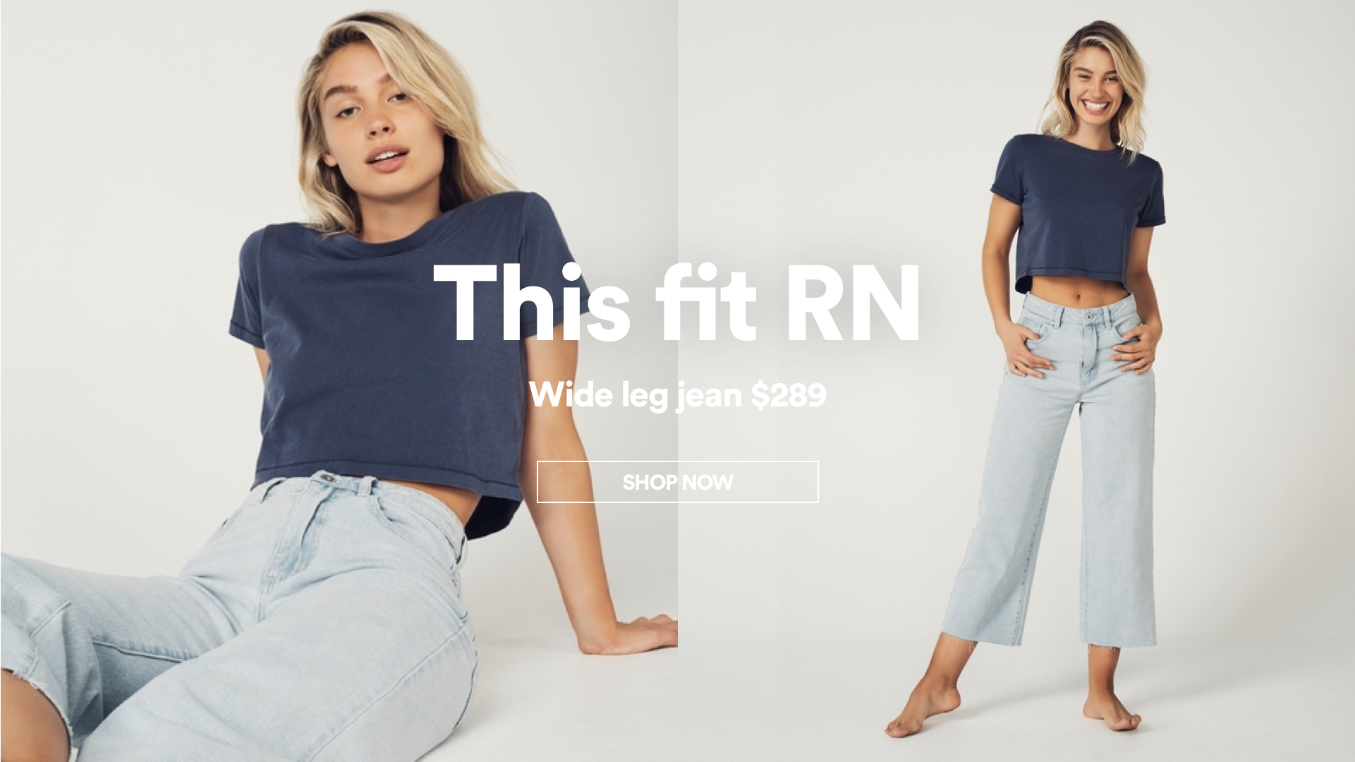 Wide Leg Jeans. Shop Now.