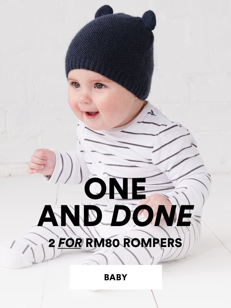 One and done. 2 for RM80 Kids Rompers. Click to shop