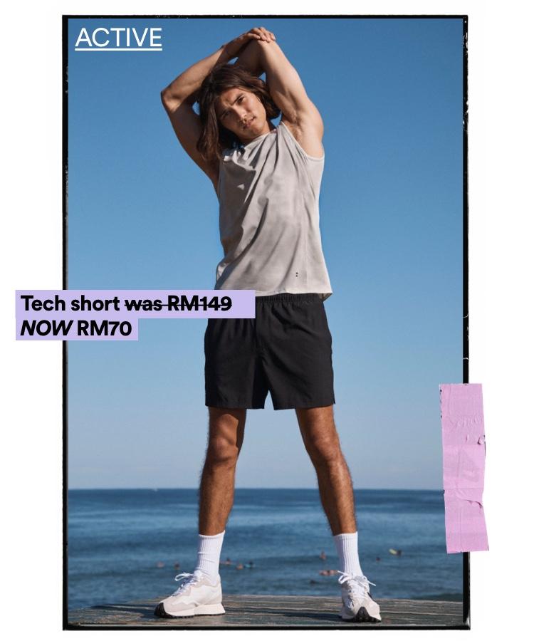 Men's Activewear. Click to Shop.