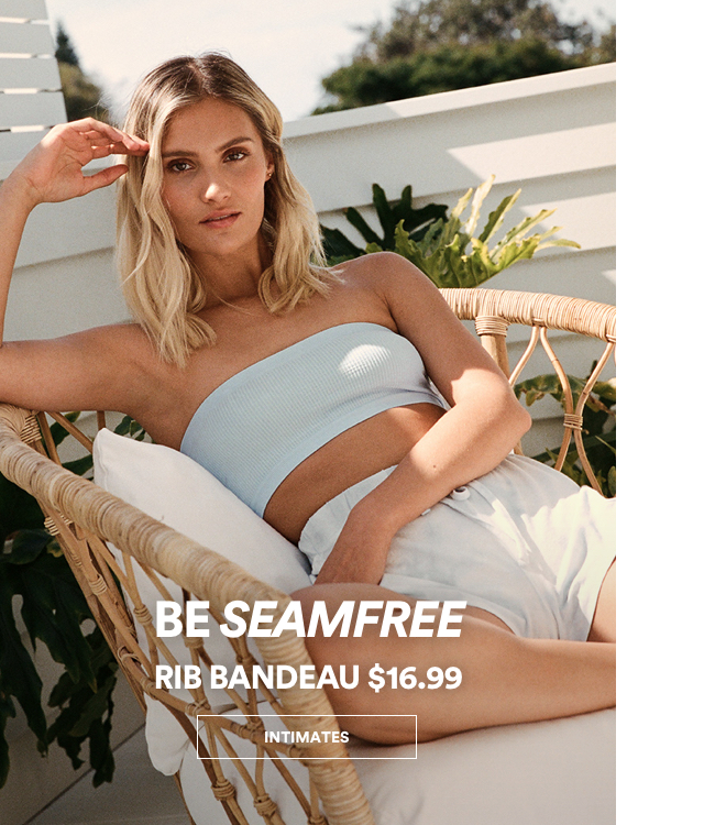 Be Seamfree, Rib Bandeau $16.99. Click to shop.