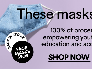 These masks are so good. Shop Now.