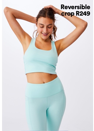 Women's Active Crops. Click to shop