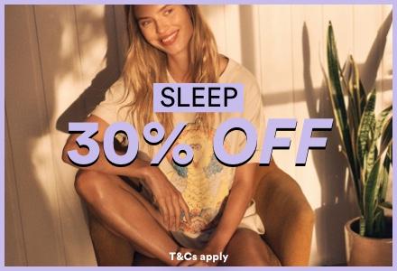 30% Off Sleepwear. Click to Shop.