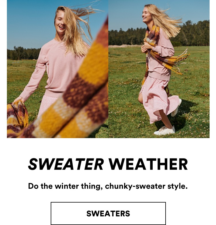 Sweater Weather. Do The Winter Thing, Chunky-Sweater Style