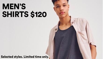 Men's Shirts $120. Click to shop.