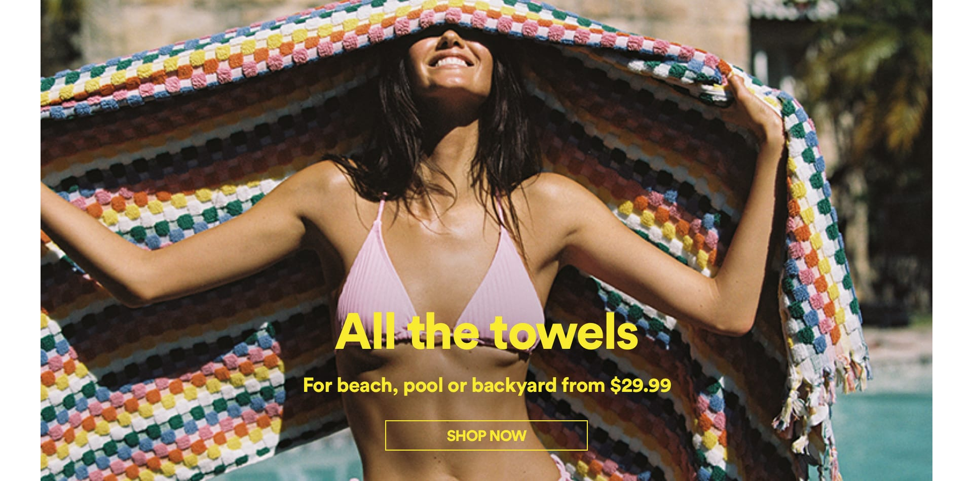 Cotton On Beach Towels. Click to shop.