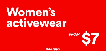 Women's Activewear from $7. Click to shop.