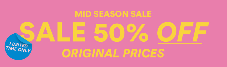 50% OFF Original Prices. Selected Syles. Instore & Online. Shop Now.