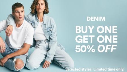 BOGO Denim. Click to shop.