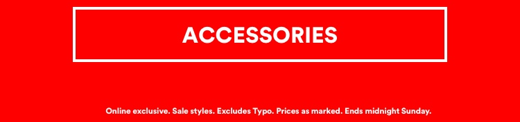 Up To 50% Off Sale. Click To Shop Accessories