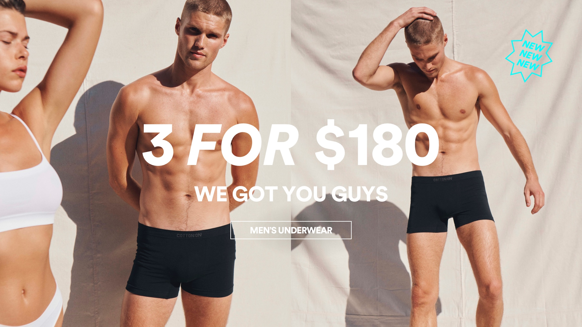 Men's Trunks 3 for $180. Click to shop.