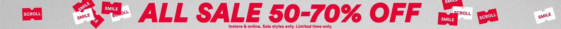 All Sale 50-70% Off, Click to Shop.