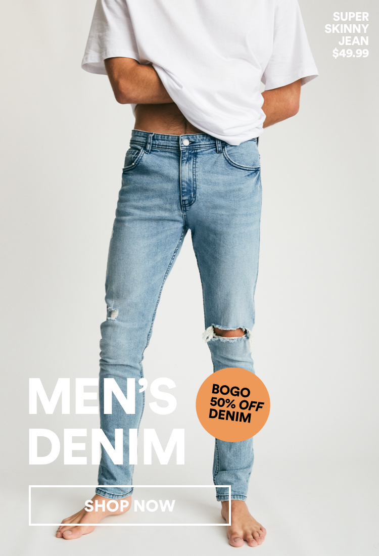 Men's Denim. Shop Now.