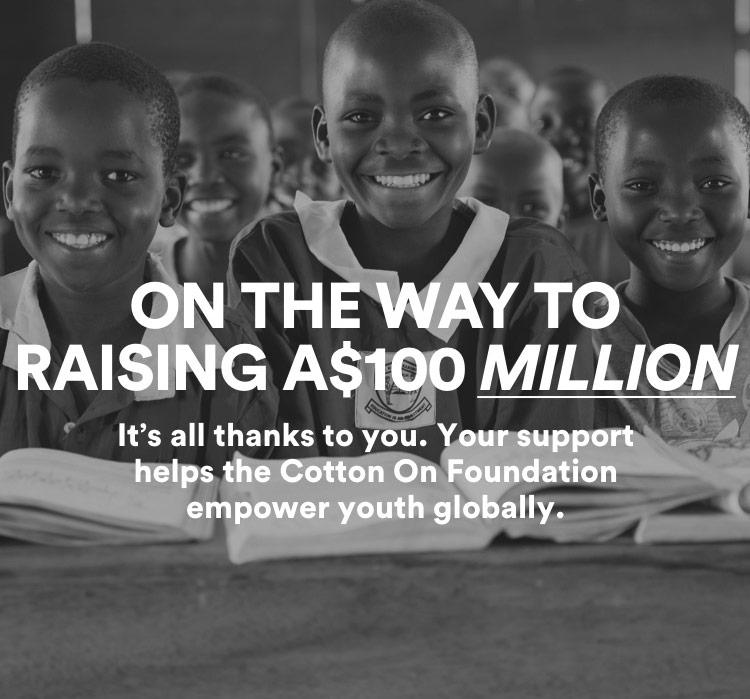 On the Way to Raising $100 Million. Shop Foundation.